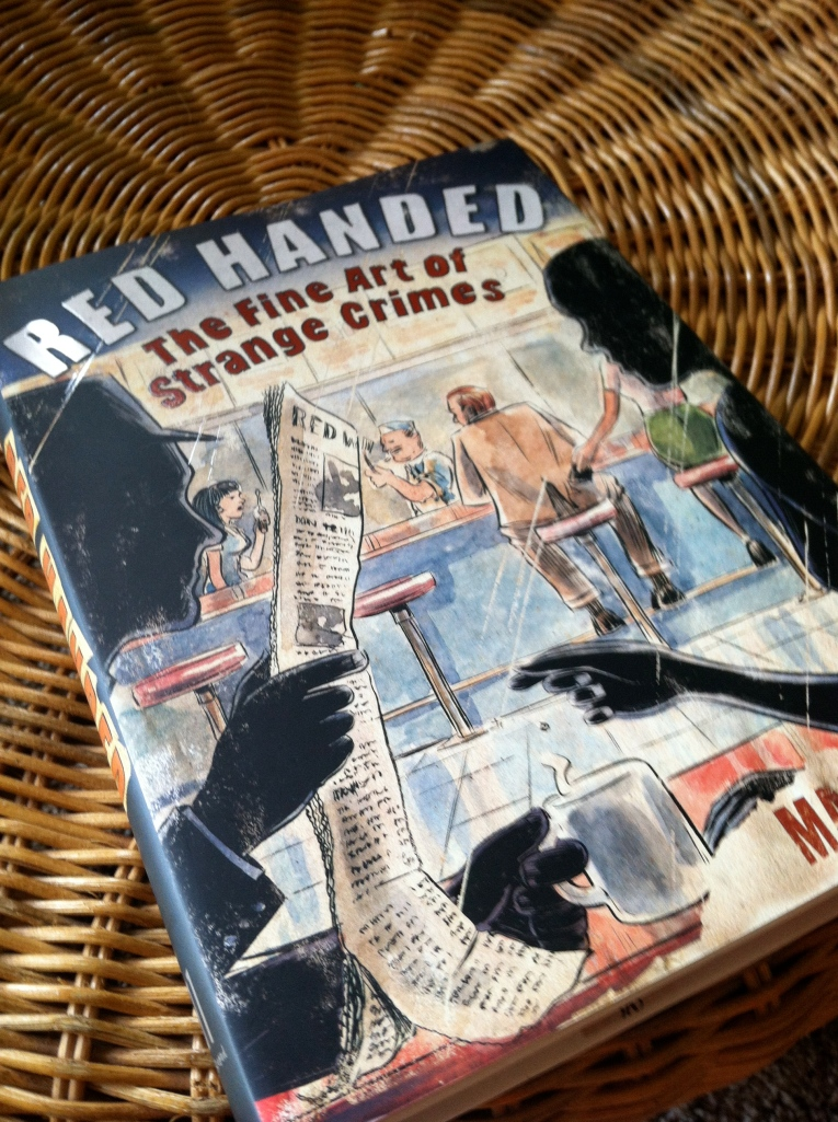 Hardback edition of book Red Handed