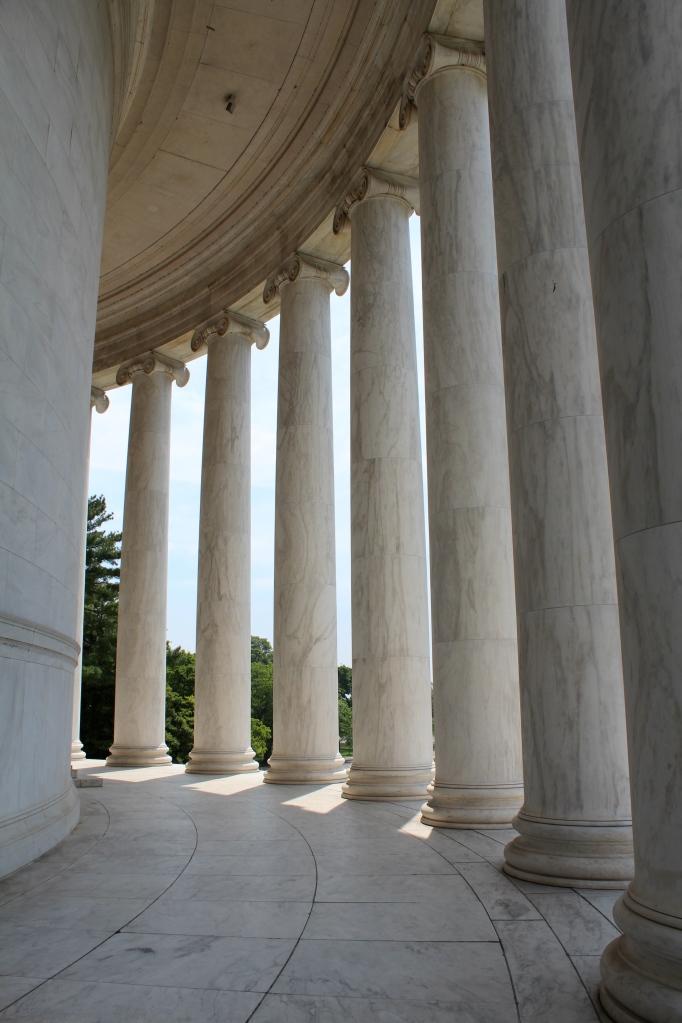 Portico at the Jefferson Memorial