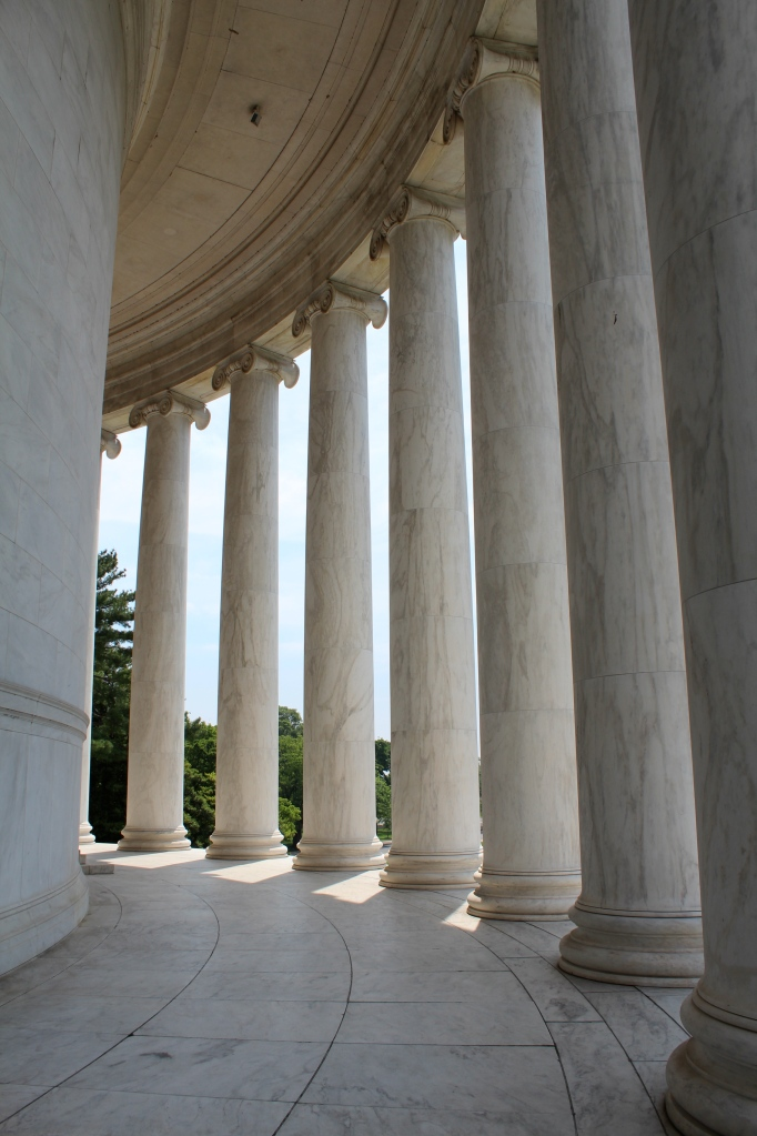 Portico at the Jefferson Memorial